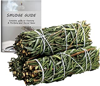 Ancientveda Rosemary Smudge Sticks 3 Pack for Cleansing House, Meditation, Yoga, Negative Energy Cleanse, and Smudging wit...