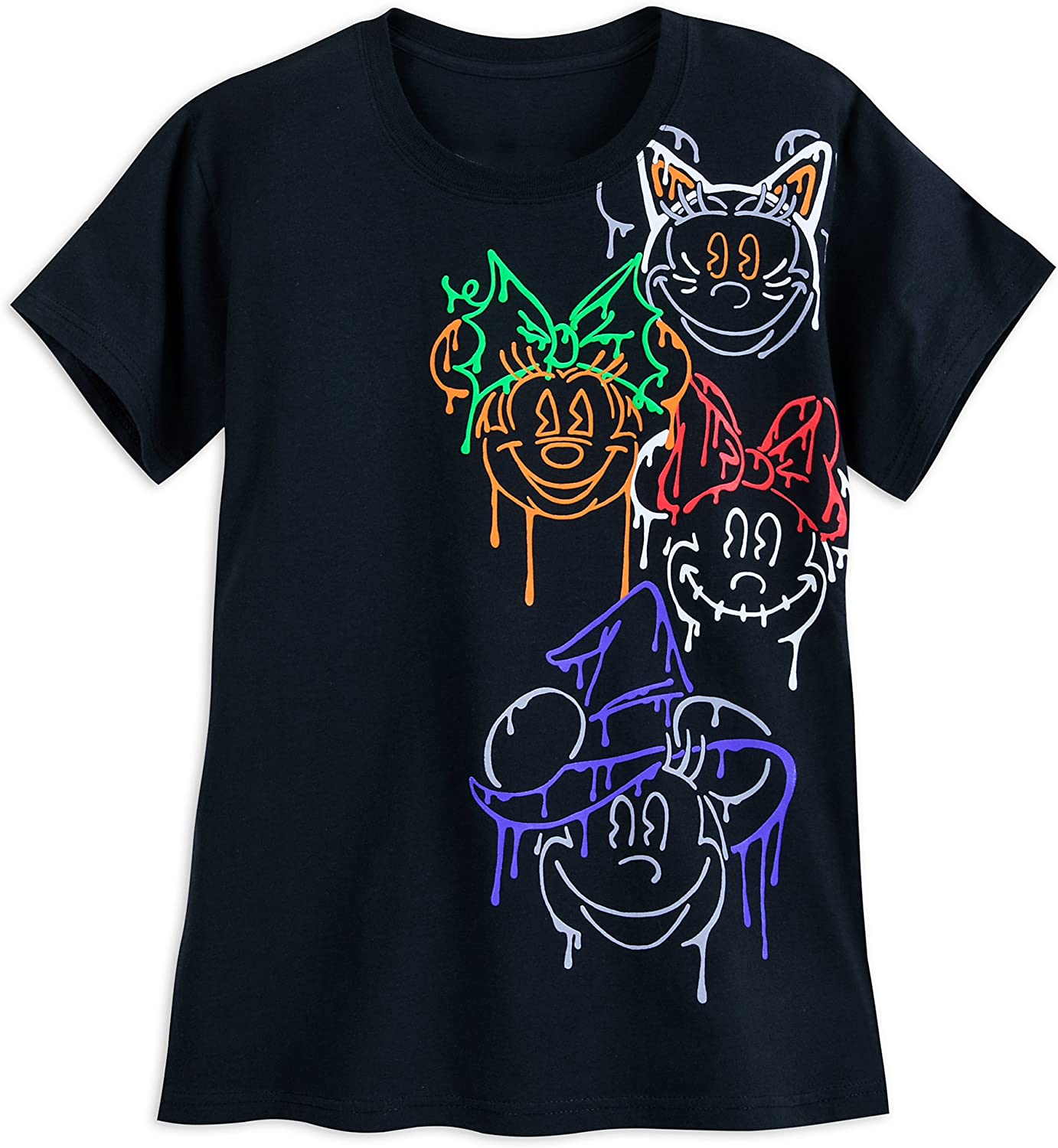 Disney Minnie Mouse 5 Japan's largest assortment ☆ very popular Halloween Black T-Shirt for Adults