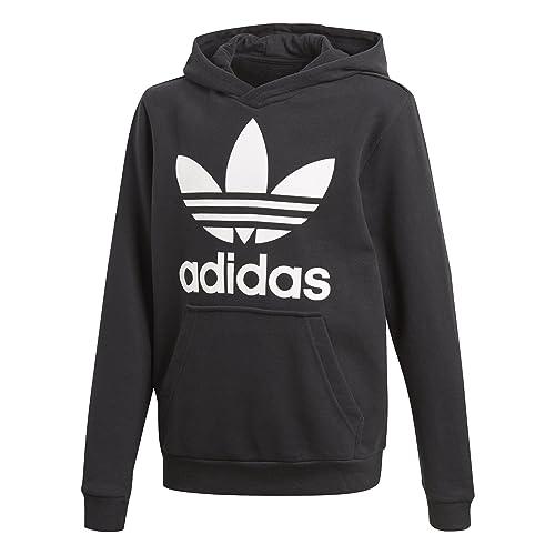 adidas hoodie white and black