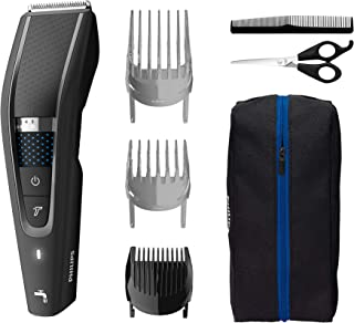 Philips Hair Clippers for Men, Series 5000 Hair Clipper, Length Changing Dial with 28 Settings, Grades 0-7, 90 mins Run Ti...