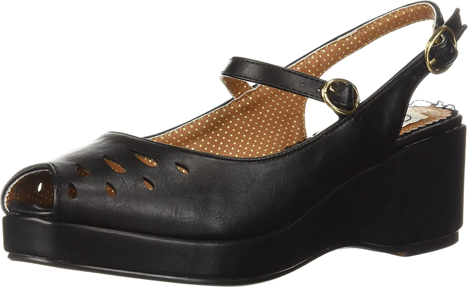 Bettie Page Womens Bp242-faye Wedge Sandal