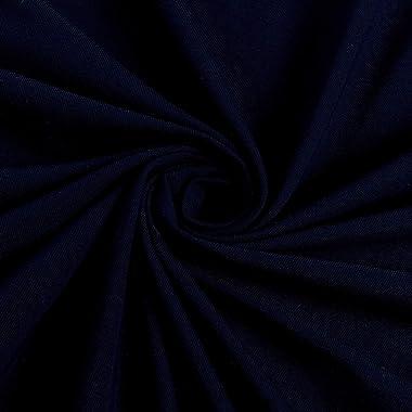 TELIO Organic Cotton Spandex Melange Jersey Knit, Yard, Navy