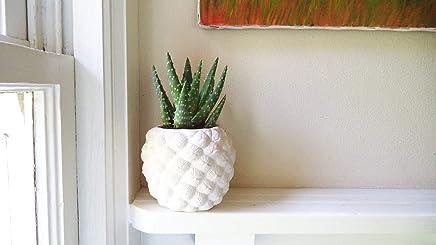 Pineapple planter, pineapple shaped pot, Succulent planter, tropical decor, candle holder