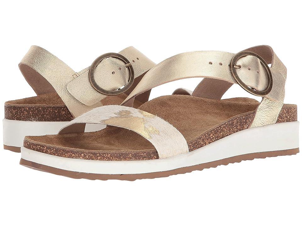 Image of Aetrex Adrianna (Gold Pony) Women's Sandals