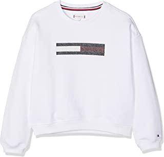 Tommy Hilfiger Lurex Flag Slouchy Sweatshirt Sudadera para Niñas