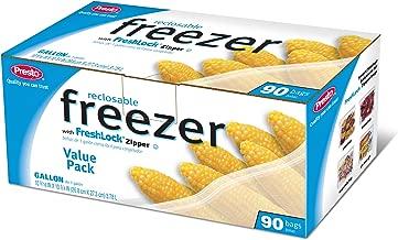 Freezer Bags Zip Lock Gallon 90 Bags - Presto (Leak Resistant Multi-Track)