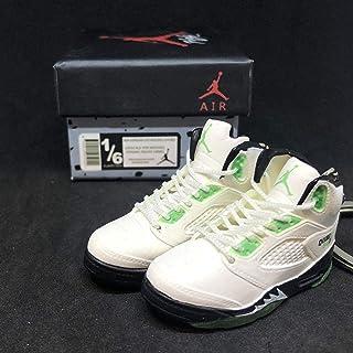 31eb03a9722c57 Pair Air Jordan V 5 Retro Quai 54 White Green Q54 OG Sneakers Shoes 3D  Keychain