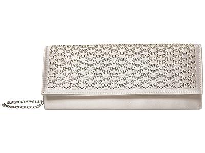 Jessica McClintock Carlie (Silver) Clutch Handbags