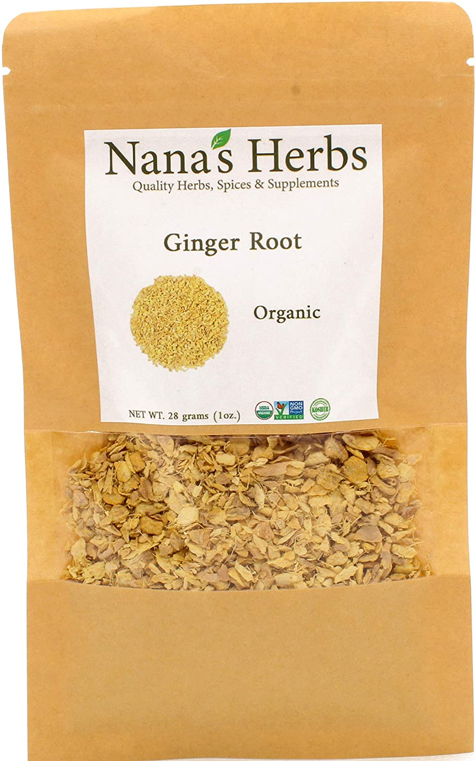 Discount mail order Ginger Root Oragnic supreme 1oz Cut Sifted