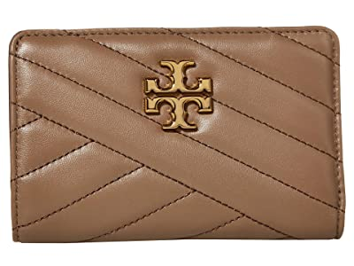 Tory Burch Kira Chevron Medium Slim Wallet (Classic Taupe 1) Wallet Handbags