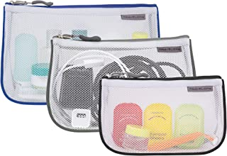 Travelon: Set of 3 Assorted Piped Pouches - Cool Tones