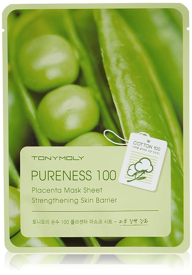 略語全能降下TONYMOLY Pureness 100 Placenta Mask Sheet Strengthening Skin Barrier (並行輸入品)