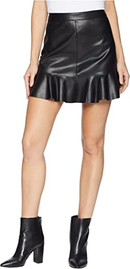 Veni Vidi Vici Vegan Leather Mini Skirt