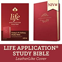 Tyndale NIV Life Application Study Bible, Third Edition (LeatherLike, Berry) NIV Bible with Updated Notes and Features, Full Text New International Version