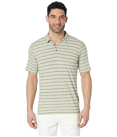 NAU Kanab Short Sleeve Polo (Cedar Stripe) Men
