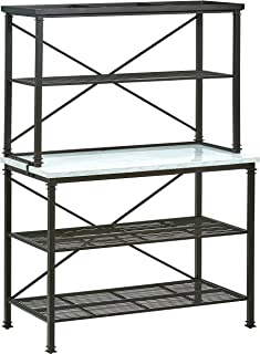Stone & Beam Amber Metal Buffet Table Kitchen Storage Rack, 47.5