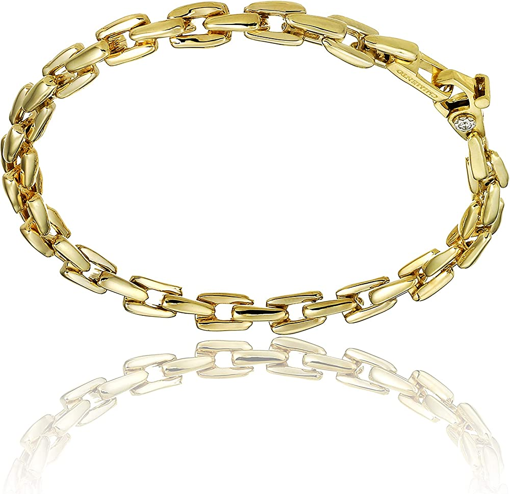 Chimento, bracciale per donna in oro bianco 18 kt con diamante 0.03 ct