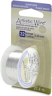 Artistic Wire 32-Gauge Tarnish Resistant Silver Wire, 30-Yard