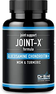Dr. Emil's Joint Support Formula - Glucosamine Chondroitin, Turmeric and MSM - Doctor Formulated Joint Supplement for Mobility and Pain Relief - for Men and Women (60 Veggie Capsules)
