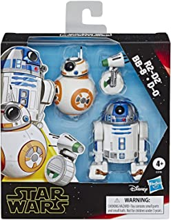 """Star Wars Galaxy of Adventures R2-D2, BB-8, D-O Action Figure 3 Pack, 5"""" Scale Droid Toys with Fun Action Features, Kids A..."""