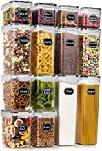 Wildone Airtight Food Storage Containers - BPA Free Cereal & Dry Food Storage Containers Set of 14 for Sugar, Flour, Snack...