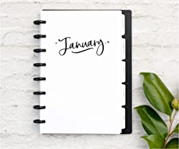 BetterNote 2020 Monthly Calendar with Tabbed Dividers for Disc-Bound Planners, Fits 8-Disc Circa Junior, Arc by Staples, Half Letter Size 5.5