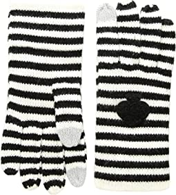 Striped Spade Gloves