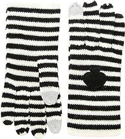 Striped Spade Gloves