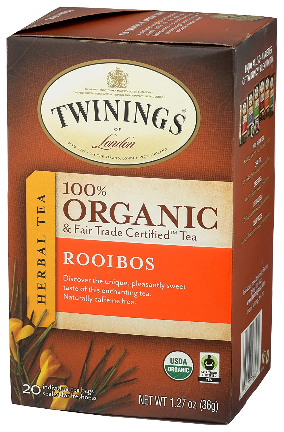 Twinings of London Organic Challenge the lowest price Japan Dedication and Certified Fair Rooibos Herb Trade