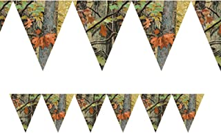 Creative Converting 1 Piece Hunting Havercamp Camo Hanging Flag Banners - 10 Feet Long Southern Birthday Celebration Party Decorations Supplies