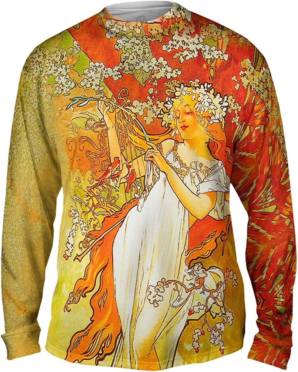 Yizzam- Alphonse Mucha - Spring Mens -Tshirt- Sleeve Long Our shop OFFers the best service 1896 free