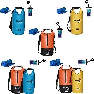 Tarpaulin 500D Waterproof Dry Bag 20L pocket & 10L 1-Strap Roll Top Dry Floating Sack for Beach Fishing Kayaking Rafting B...