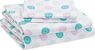 AmazonBasics Kid's Sheet Set - Soft, Easy-Wash Microfiber - Full, Jade Medallion