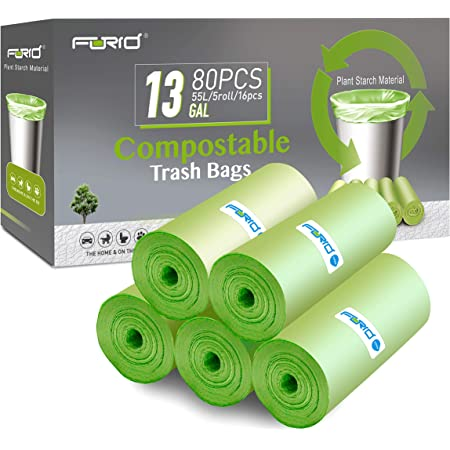 Amazon Com Eco Smartbags Biodegradable Trash Bags 13 Gallon 24 Count Boxes Pack Of 6 Bhuv Health Personal Care