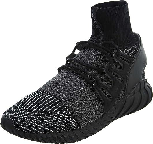 adidas Mens Tubular Doom Primeknit Lace Up Running Sneakers Shoes - Black