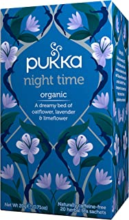 Pukka Night Time, Organic Herbal Tea with Lavender, 20 Tea Bags