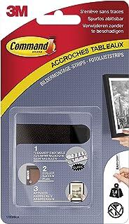 Command 17202BLK, montagestrips voor foto's, (maat S, tot 1,8 kg draagkracht), 4 sets met 2 strepen, zwart