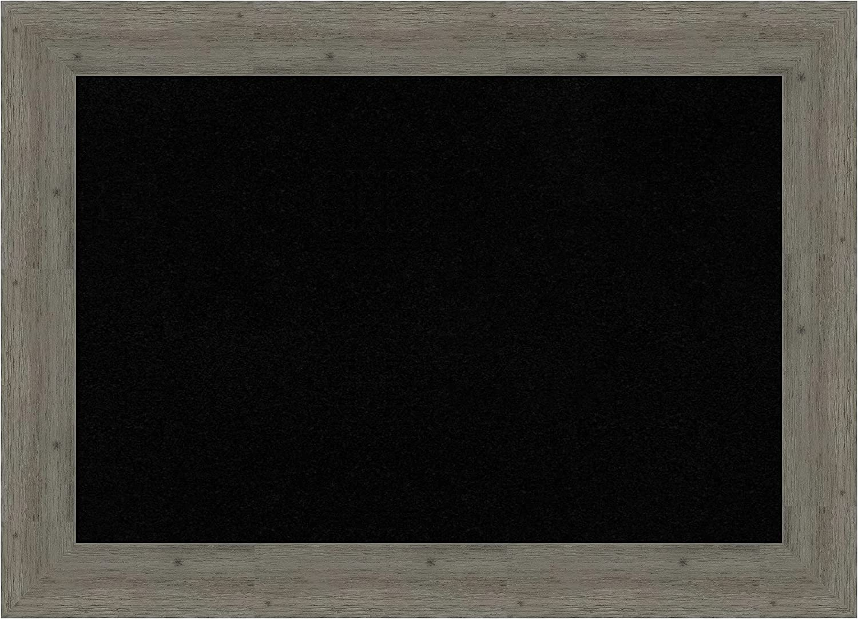 Framed Black Cork Board Bulletin Board | Black Cork Boards Fence