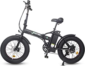 ECOTRIC Electric Foldable Bike Black Beach Snow Bicycle 20