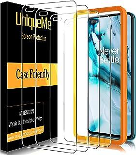 UniqueMe [4 PACK] Gehard glas Compatibel voor Oneplus Nord, [Bubble Free] [9H Hardheid] Anti-kras Screen Protector HD Clea...
