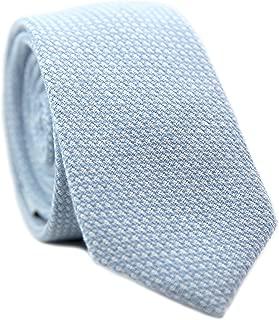 Men's Skinny Tie, Cotton Wool Linen Necktie, Great for Weddings, Groom, Groomsmen, Missions, Dances, Gifts.