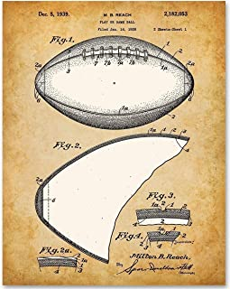 Football - 11x14 Unframed Patent Print - Makes a Great Gift Under $15 for Football Fans, Football Players or Boy`s Room Decor