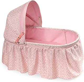 Badger Basket Folding Doll Cradle with Rosebud Fabric (fits American Girl Dolls)
