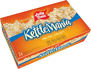 Jolly Time KettleMania Microwave Popcorn Sweet and Salty Gourmet Kettle Corn, 24 Count