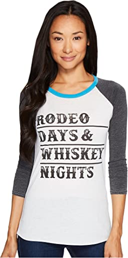 Rock and Roll Cowgirl - 3/4 Sleeve Tee 48T3533