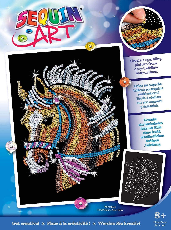 MAMMUT 20   Sequin Art Paillettenbild Pferd, Steckbild ...