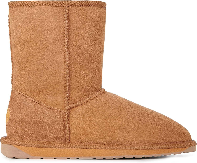 EMU Australia Stinger Lo Schuhe Damen Echtleder-Stiefel Stiefel Braun