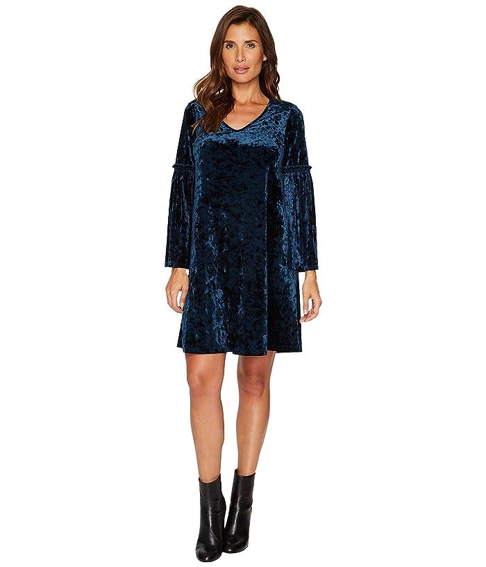 21ca186e97ce Karen Kane Velvet V-Neck Bell Sleeve Dress at 6pm
