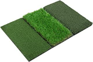 SkyLife Tri-Turf Golf Hitting Mat, Driving Chipping Putting Training Aids for Backyard Home Garage Outdoor Practice with TEEs