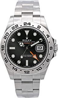 Rolex Explorer II Black Dial Stainless Steel Rolex Oyster Automatic Mens Watch 216570BKSO